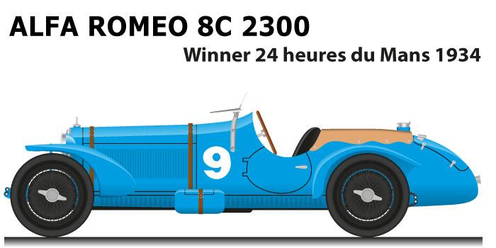 Alfa Romeo 8C 2300 n.9 winner 24 Hours of Le Mans 1934