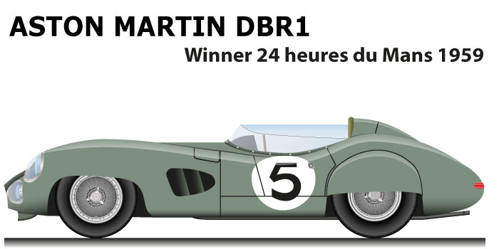 Aston Martin DBR1 n.5 winner 24 Hours of Le Mans 1959