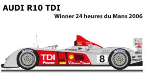 Audi R10 TDI n.8 Winner 24 Hours of Le Mans 2006