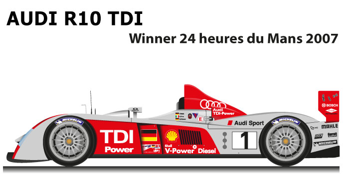 Audi R10 TDI n.1 Winner 24 Hours of Le Mans 2007