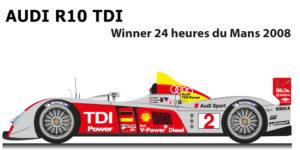 Audi R10 TDI n.2 winner 24 Hours of Le Mans 2008
