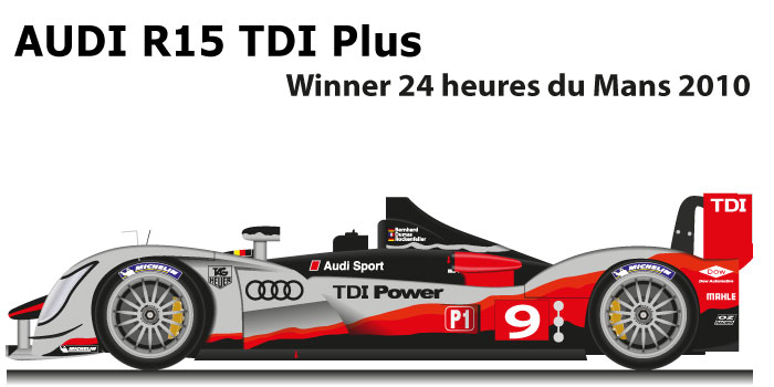 Audi R15 TDI Plus n.9 Winner 24 Hours of Le Mans 2010