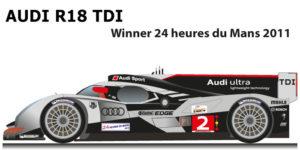 Audi R18 TDI n.2 winner 24 Hours of Le Mans 2011