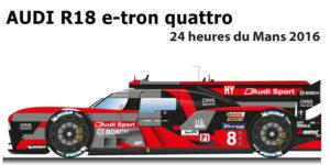 Audi R18 e-tron quattro 2016 3° 24 Hours of Le Mans 2016