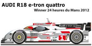 Audi R18 e-tron quattro n.1 Winner 24 Hours of Le Mans 2012