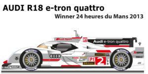 Audi R18 e-tron quattro n.2 winner 24 hours of Le Mans 2013