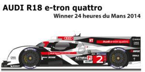 Audi R18 e-tron quattro n.2 winner 24 Hours of Le Mans 2014