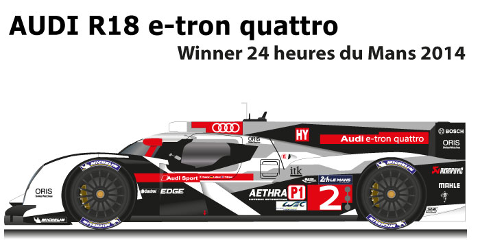 Audi R Etron Quattro N Winner Hours Of Le Mans - Audi r18 e tron quattro