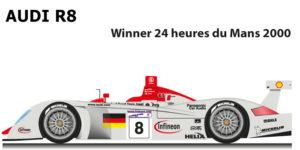 Audi R8 n.8 Winner 24 Hours of Le Mans 2000