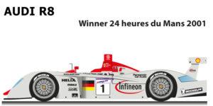 Audi R8 n.1 winner 24 Hours of Le Mans 2001