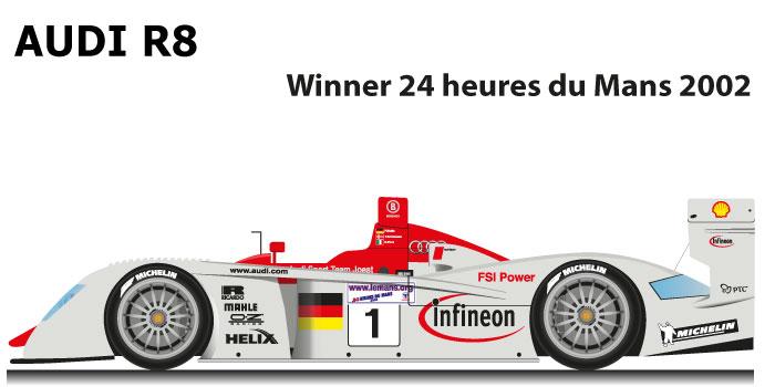 Audi R8 n.1 Winner 24 Hours of Le Mans 2002