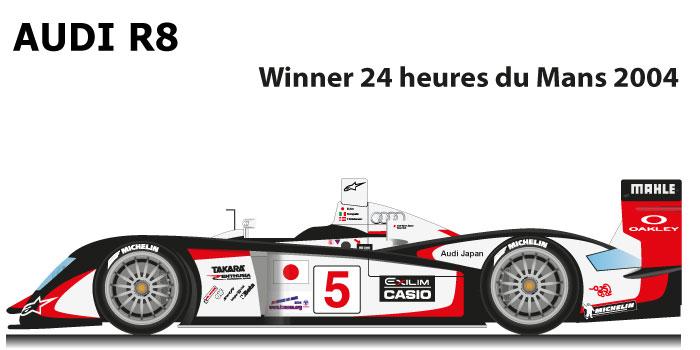 Audi R8 n.5 Winner 24 Hours of Le Mans 2004