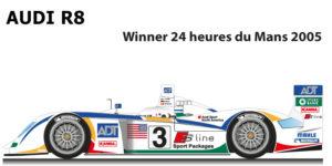 Audi R8 n.3 winner 24 hours of Le Mans 2005
