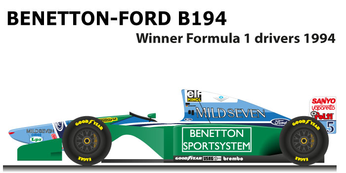 Benetton Ford B194 Formula 1 Champion with Schumacher