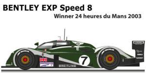 Bentley EXP speed 8 n.7 Winner 24 Hours of Le Mans 2003