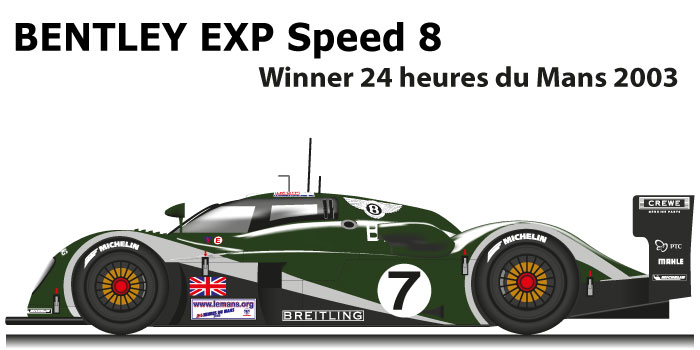 Bentley EXP speed 8 n.7 Winner 24 Hours of Le Mans 2003