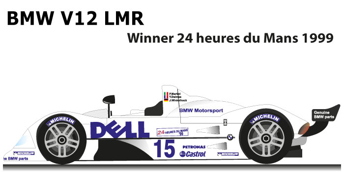 BMW V12 LMR n.15 Winner 24 Hours of Le Mans 1999
