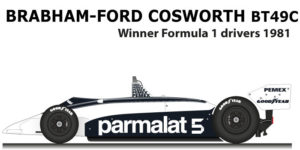 Brabham - Ford Cosworth BT49C n.5 winner Formula 1 Champion 1981