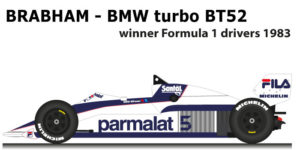 Brabham - BMW turbo BT52 n.5 winner Formula 1 Champion 1983