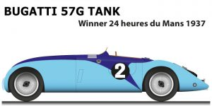 Bugatti 57G Tank n.2 winner 24 Hours of Le Mans 1937