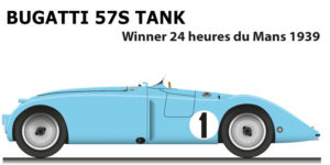 Bugatti 57S Tank n.1 winner 24 Hours of Le Mans 1939 with Wimille and Veyron