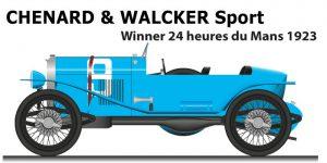 Chenard & Walcker Sport n.9 winner 24 Hours of Le Mans 1923