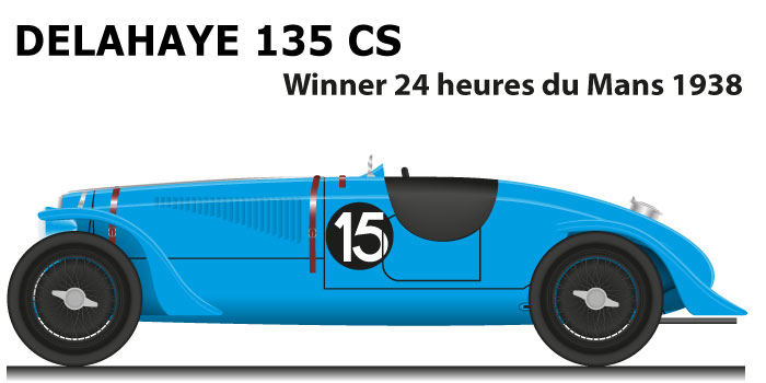 Delahaye 135 CS n.15 winner 24 Hours of Le Mans 1938