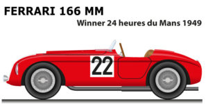Ferrari 166 MM n.22 winner 24 Hours of Le Mans 1949 with Chinetti, Thomson