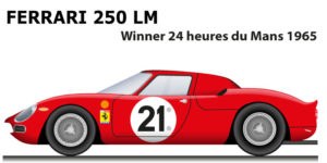 Ferrari 250 LM n.21 winner 24 Hours of Le Mans 1965 with Gregory and Rindt