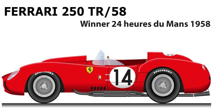 Ferrari 250 TR/58 n.14 winner 24 Hours of Le Mans 1958