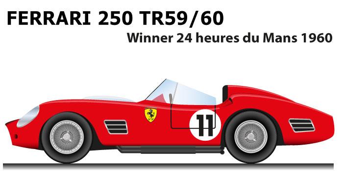Ferrari 250 TR59/60 n.11 winner 24 Hours of Le Mans 1960