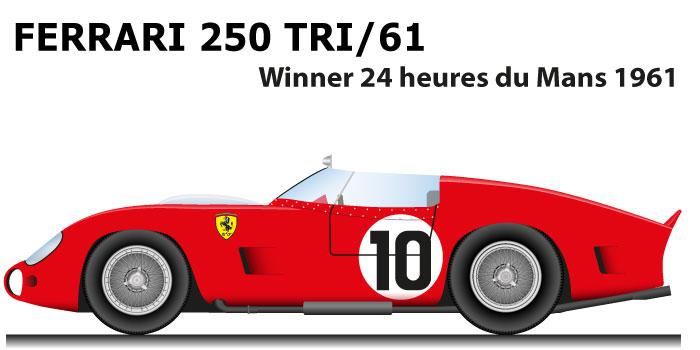 Ferrari 250 TRI/61 n.10 winner 24 Hours of Le Mans 1961