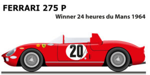 Ferrari 275 P n.20 winner 24 Hours of Le Mans 1964 with Vaccarella and Guichet