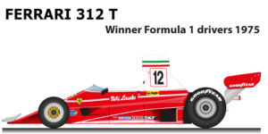 Ferrari 312 T n.12 winner Formula 1 World Champion 1975