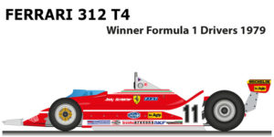 Ferrari 312 T4 n.11 winner Formula 1 World Champion 1979