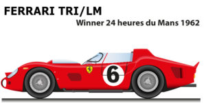 Ferrari 330 TRI/LM n.6 winner 24 Hours of Le Mans 1962