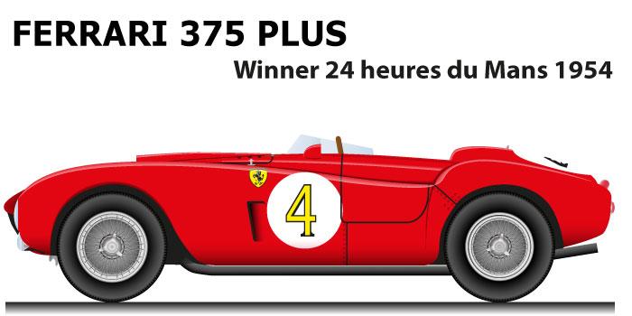 Ferrari 375 PLUS n.4 winner 24 Hours of Le Mans 1954 with Gonzalez, Trintignant