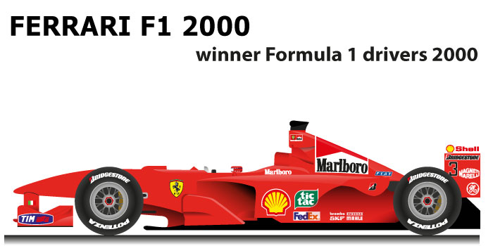 Ferrari F1 2000 N 3 Winner Formula 1 World Champion 2000