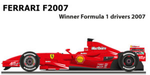 Ferrari F2007 n.6 winner Formula 1 World Champion 2007 with Raikkonen