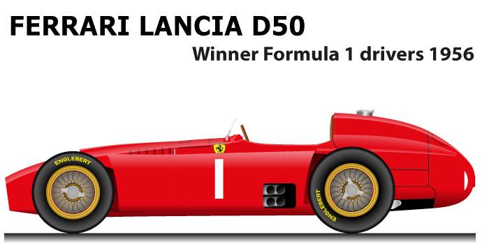 Ferrari - Lancia D50 winner Formula 1 World Champion 1956 with Fangio