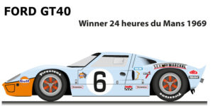Ford GT40 n.6 winner 24 Hours of Le Mans 1969 with drivers Ickx and Oliver