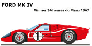 Ford GT40 MK IV n.1 winner 24 Hours of Le Mans 1967 with Foyt and Gurney