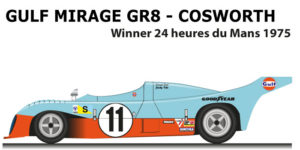 Gulf Mirage GR8 - Cosworth n.11 winner 24 Hours of Le Mans 1975 with Ickx, Bell