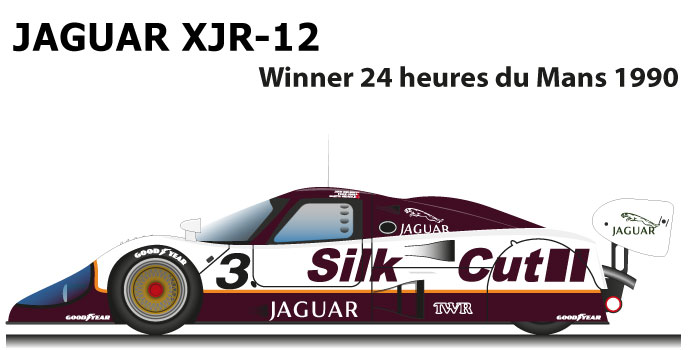 Jaguar XJR-12 n.3 winner 24 Hours of Le Mans 1990