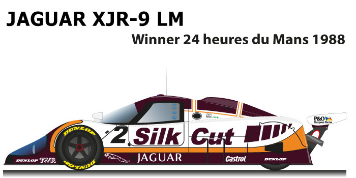 Jaguar XJR-9 LM n.2 winner 24 Hours of Le Mans 1988
