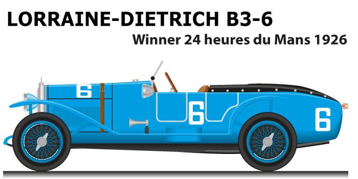 Lorraine-Dietrich B3-6 n.6 winner 24 Hours of Le Mans 1926
