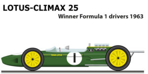 Lotus - Climax 25 winner Formula 1 World Champion 1963 with Jim Clark