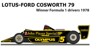 Lotus - Ford Cosworth 79 n.5 Winner Formula 1 World Champion 1978