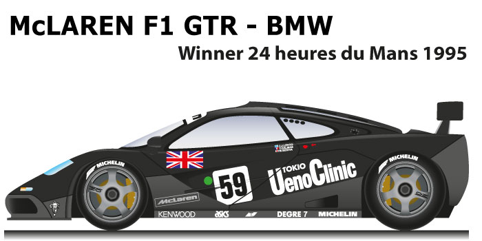 McLaren F1 GTR - BMW n.59 winner 24 Hours of Le Mans 1995