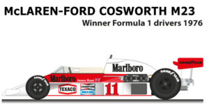 McLaren - Ford Cosworth M23 n.11 winner F1 World Champion 1976